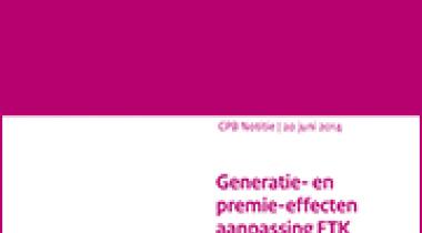 Image for Generatie- en premie-effecten aanpassing FTK