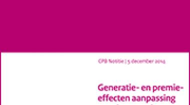Image for Generatie- en premie-effecten aanpassing pensioenregels 2015