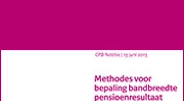 Image for Methodes voor bepaling bandbreedte pensioenresultaat