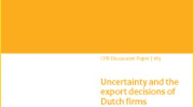 Image for Uncertainty and the export decisions of Dutch firms