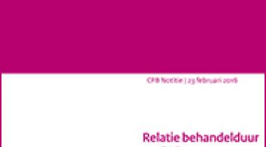 Image for Relatie behandelduur en GAF-scores in de GGZ