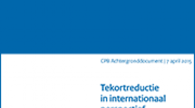 Image for Tekortreductie in internationaal perspectief