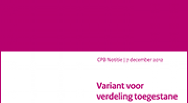 Image for Variant voor verdeling toegestane overheidstekort tussen Rijk en lokale overheid