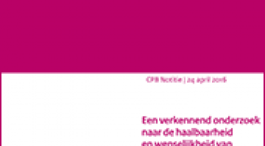 Image for Een verkennend onderzoek naar de haalbaarheid en wenselijkheid van doelstellingen met betrekking tot recycling en preventie van huishoudelijk afval