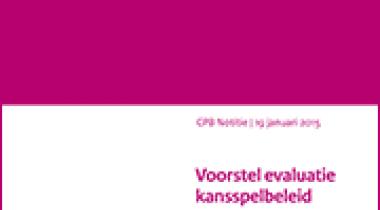 Image for Voorstel evaluatie kansspelbeleid