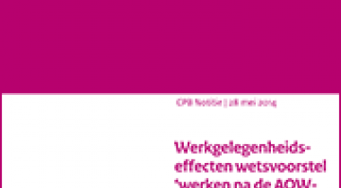 Image for Werkgelegenheidseffecten wetsvoorstel 'werken na de AOW-gerechtigde leeftijd'