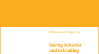 Image for Saving behavior and risk taking: Evidence from the Dutch Tax Reform in 2001